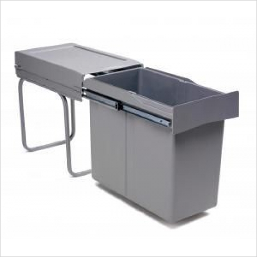 Second Nature Recycling Bins - Pull-Out Waste Bin, 30 Litre, Full Extension Runners