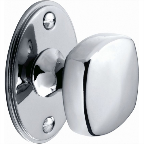 Second Nature Handles - Square Knob With Backplate, 38mm Diameter Knob