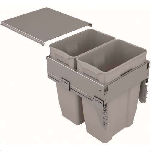 Sige Recycling Bins - Inter-Bin 500mm Wide Unit, 60ltr Capacity