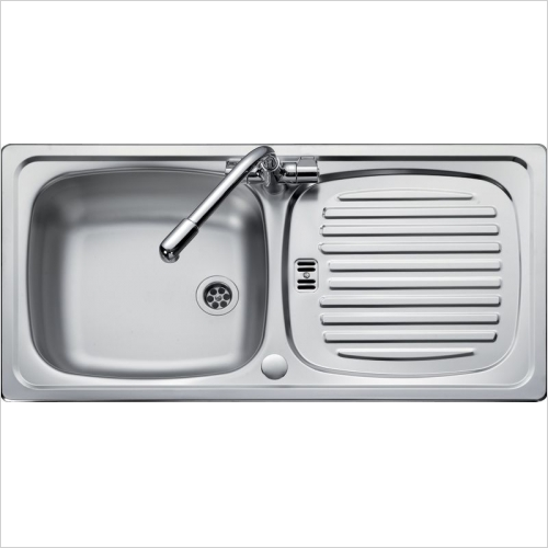 Rangemaster Sinks - Rangemaster Euroline EL860 Single Bowl Sink & Drainer