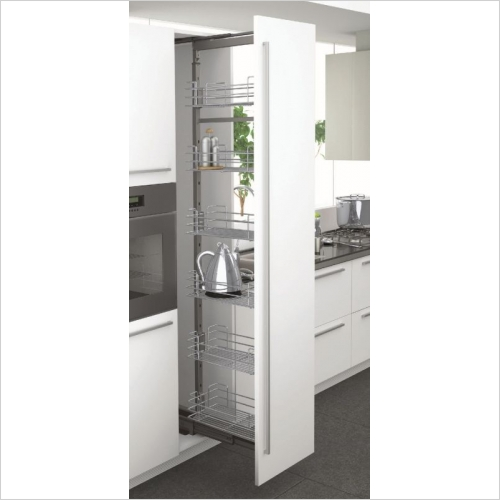 Sige Storage Solutions - Classic Pull-Out Larder 400mm Wide Unit, 1215-1515mm Height