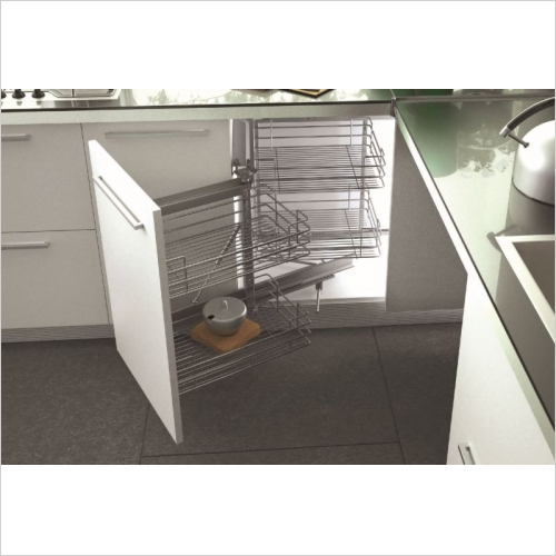 Sige Storage Solutions - Standard Corner Solution 400mm LH SIGE