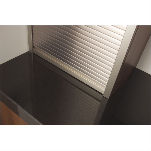 Second Nature Storage - ~H x ~Wmm Metallic Tambour Door Kit St Steel Effect