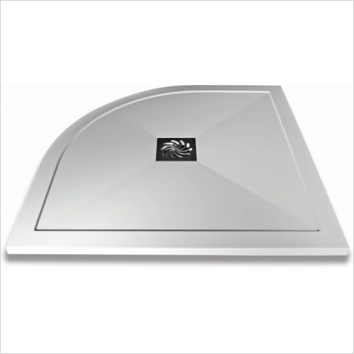 Aquaglass - 900mm Slimline Quadrant Shower Tray
