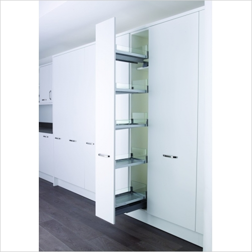 Kessebohmer - Convoy 300mm Full Ext. Larder Unit, With Anti-Slip Shelves