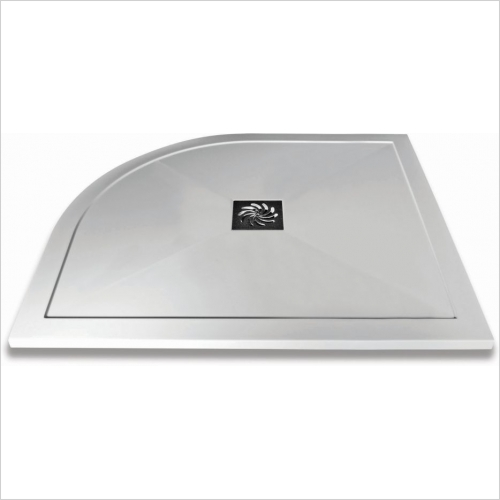 Aquaglass - 1000x800mm Slimline Offset Quadrant Shower Tray RH