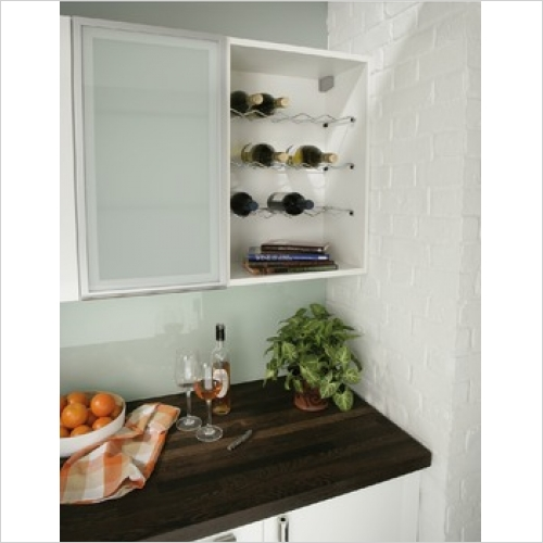 Hafele Storage Solutions - Wire Wine Rack 300mm (256 x 618 x 172mm)