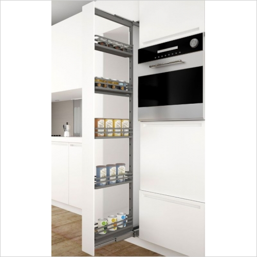Sige Storage Solutions - Orion Narrow Larder 150mm Wide Unit, 1880-2180mm Height
