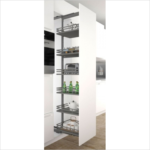 Sige Storage Solutions - Orion Pull-Out Larder 500mm Wide Unit, 1215-1515mm Height