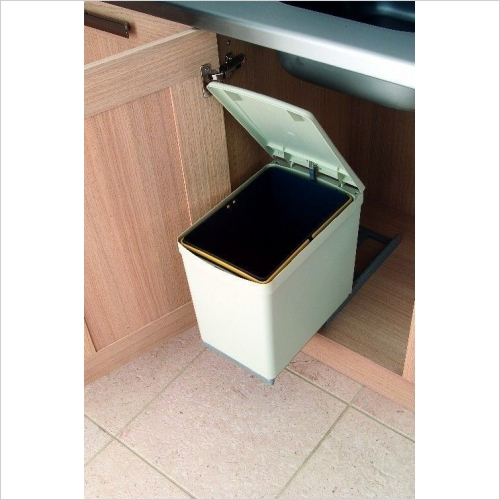 Second Nature Waste Bins - Pull-Out Waste Bin, 16 Litre, Plastic