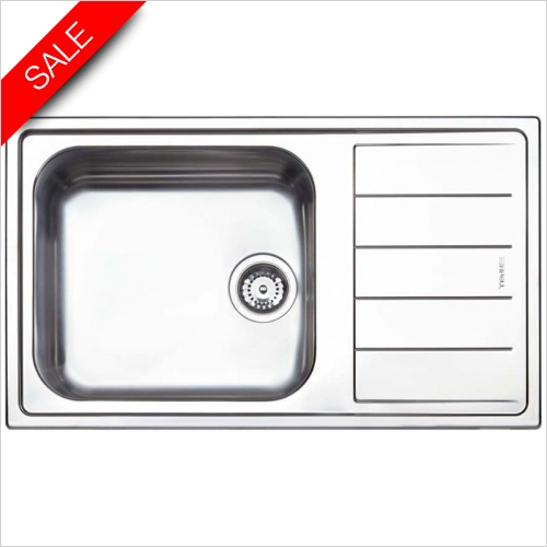 Clearwater Kitchen Sinks - Linear Single Bowl, Single Drainer RH