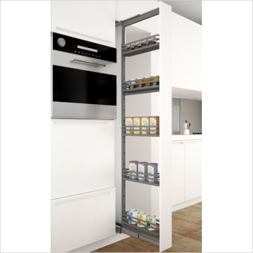 Sige Storage Solutions - Orion Narrow Larder 200mm Wide Unit, 1880-2180mm Height