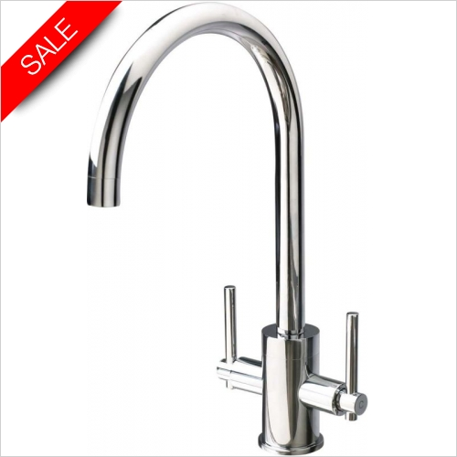 Clearwater Kitchen Sinks - Clearwater Rococo Twin Lever Mixer Tap