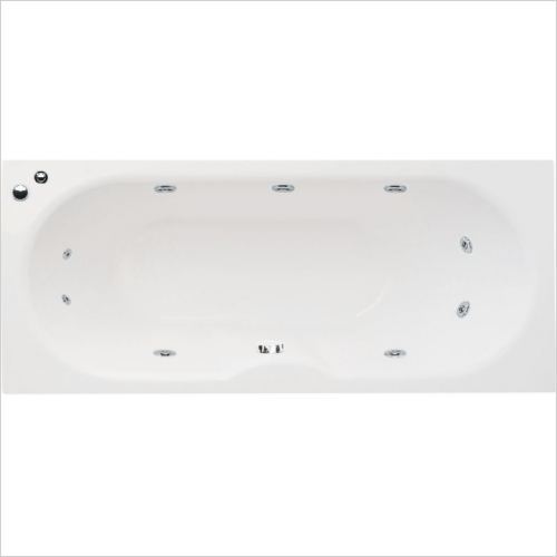 Aquabathe - Luna 1700 x 750mm 10 Jet Whirlpool Bath