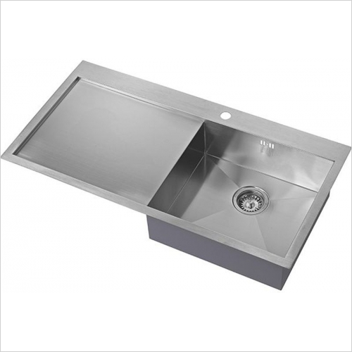The 1810 Company Sinks - Zenuno 5 I-F 1.0 Bowl Sink & Drainer RH Bowl