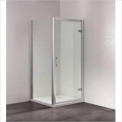 Aquaglass - Identiti2 900mm Hinged Semi-Frameless Door