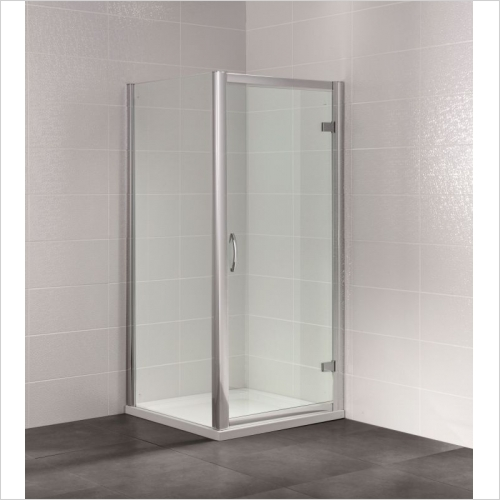 Aquaglass - Identiti2 700mm Hinged Semi-Frameless Door