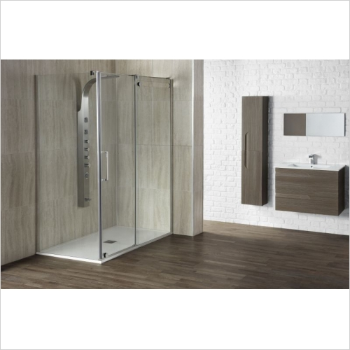 Aquaglass - Aquaglass+ Glide 1400mm Sliding Door