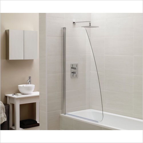 Aquabathe - Identiti2 Sail Single Bath Screen 1400 x 800mm