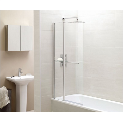Aquabathe - Identiti2 Fixed Panel Square Bath Screen 1400 x 900mm