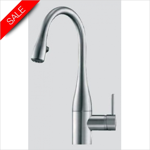 KWC - Eve RH Lever 1TH Kitchen Mixer Tap With POS & Light