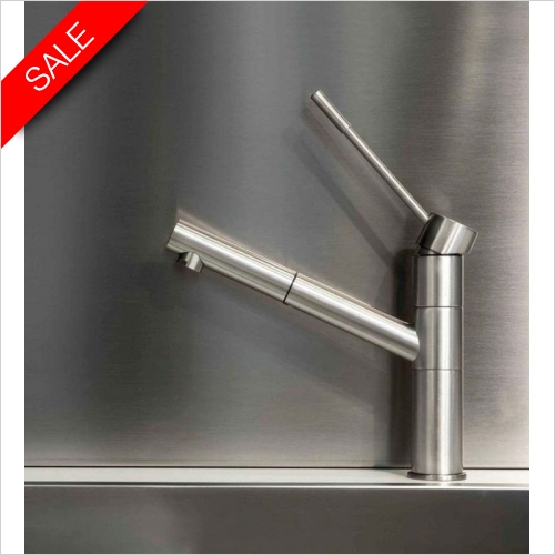Gessi - Oxygen Monobloc Mixer With Swivel Spout & Pull Out Rinse