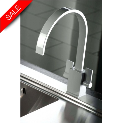 Atik Twin lever Monobloc With Swivel Spout