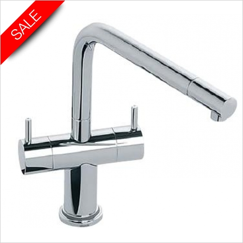Abode - Aurora Led Twin Lever Monobloc With Swivel Spout