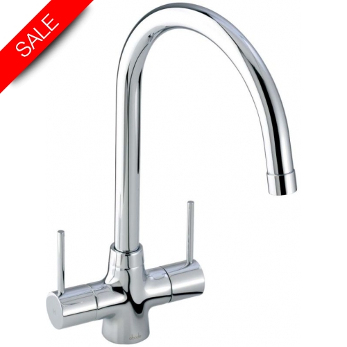 Nexa Lever Twin Lever Monobloc With Swivel Spout