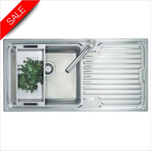 Clearwater Kitchen Sinks - Breeze 1.0 Bowl Sink & Drainer LH 1000/500