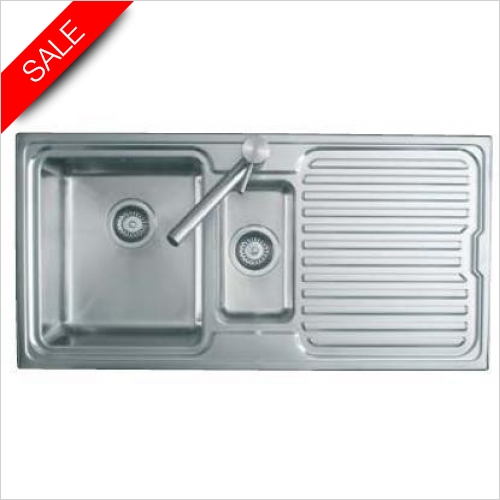 Clearwater Kitchen Sinks - Breeze 1.5 Bowl Sink & Drainer RH