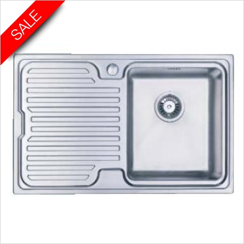 Clearwater Kitchen Sinks - Breeze 800 Single Bowl, Single Drainer LH Drainer