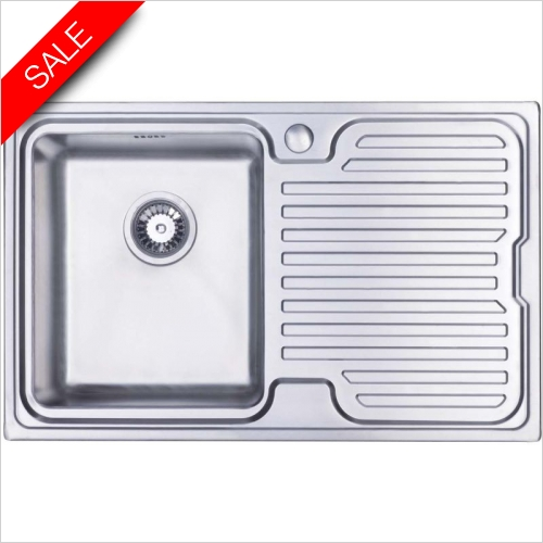 Clearwater Kitchen Sinks - Breeze 800 Single Bowl, Single Drainer RH Drainer