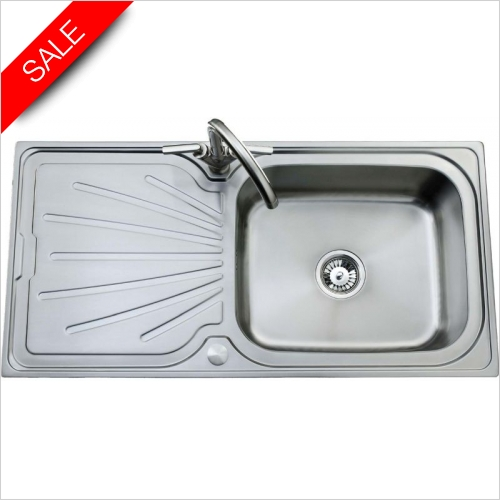 Clearwater Kitchen Sinks - Deep Blue Single Bowl, Single Drainer