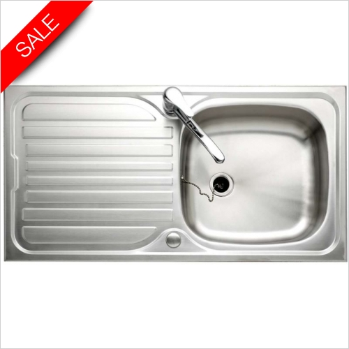 Clearwater Kitchen Sinks - Sapphire 1.0 Bowl Sink & Drainer