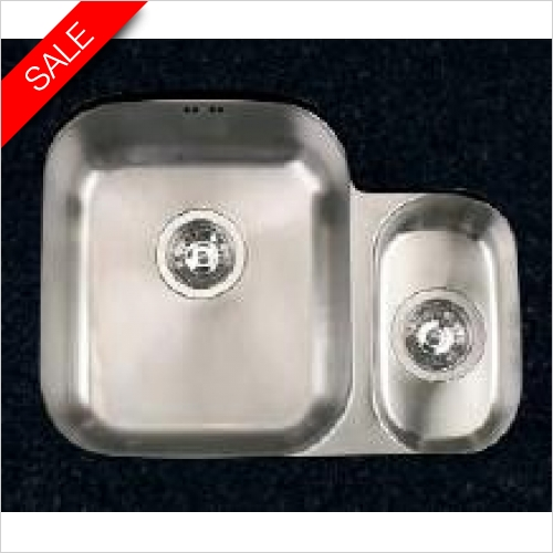 Clearwater Kitchen Sinks - Clearwater Symphony Undermount 1.5 Bowl Sink, Main Bowl - LH