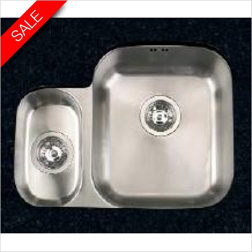 Clearwater Kitchen Sinks - Clearwater Symphony Undermount 1.5 Bowl Sink, Main Bowl - RH