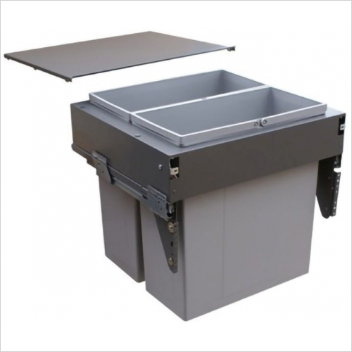 Sige Recycling Bins - Inter-Bin Twin 600mm Wide Unit, 84ltr Capacity