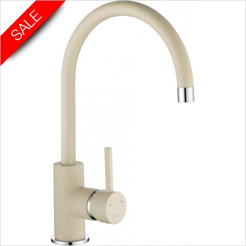 Courbe Curved Spout Tap Chrome - Purquartz