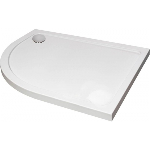 Aquaglass - 1200 x 800mm Designer Offset Quadrant Tray LH