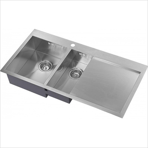 The 1810 Company Sinks - Zenduo 6 I-F 1.5 Bowl Sink & Drainer LH Bowl