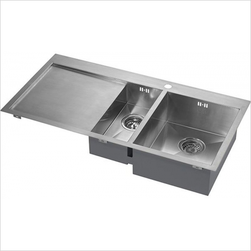 The 1810 Company Sinks - Zenduo 6 I-F 1.5 Bowl Sink & Drainer RH Bowl