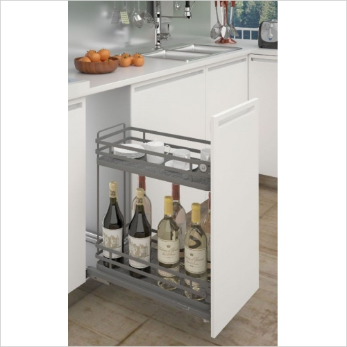 Sige Storage Solutions - Orion Base Pull-Out 400mm Wide Unit