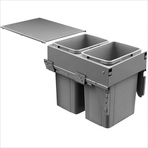 Sige Recycling Bins - Inter-Bin 400mm Wide Unit, 52ltr Capacity