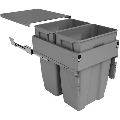 Sige Recycling Bins - Inter-Bin 450mm Wide Unit, 60 Litre Capacity