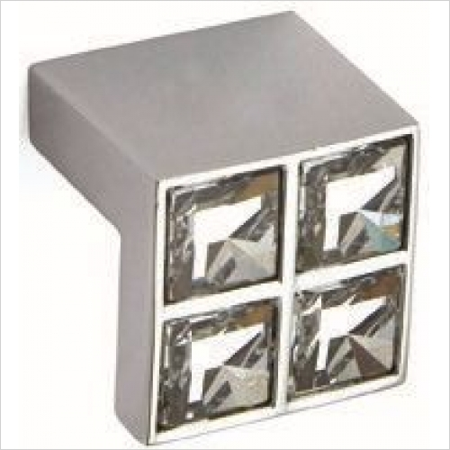 Herbert Direct Handles - Swarovski Elements Square 16mm Centres, Tab