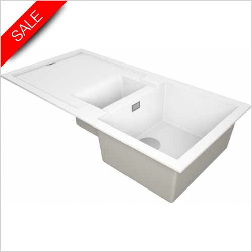 The 1810 Company Sinks - Shardduo 150i 1.5 Bowl Sink & Drainer