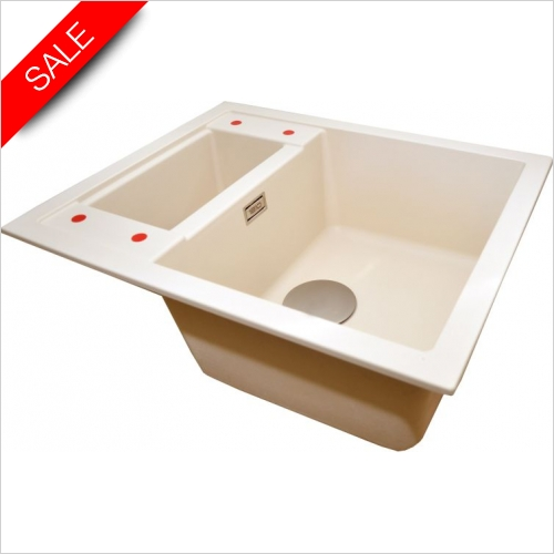 The 1810 Company Sinks - Shardduo 615i 1.5 Bowl Sink & Drainer