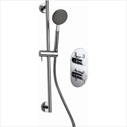 Aquaflow - Ballini Twin Concealed Thermostatic Shower Valve HP2