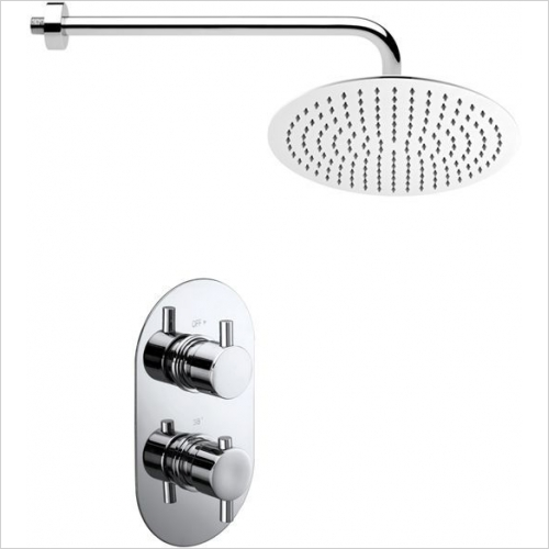 Aquaflow Italia - Garda Twin Concealed Thermostatic Shower Valve MP